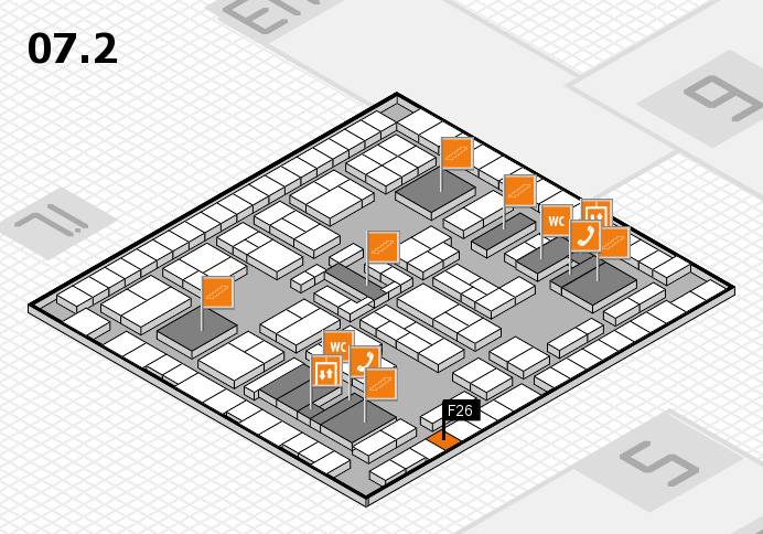 K 2016 hall map (Hall 7, level 2): stand F26