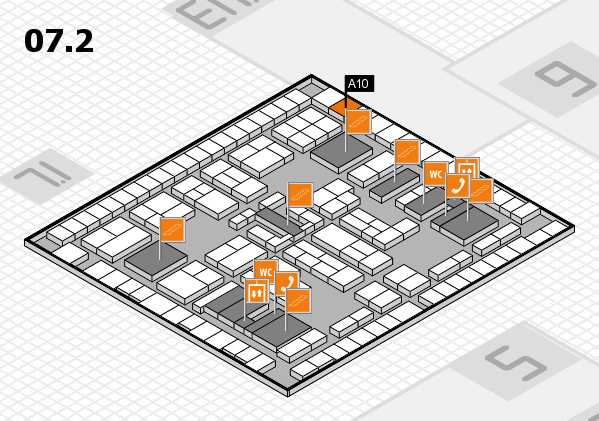 K 2016 hall map (Hall 7, level 2): stand A10