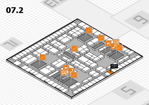 K 2016 hall map (Hall 7, level 2): stand C31