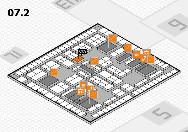 K 2016 hall map (Hall 7, level 2): stand C09