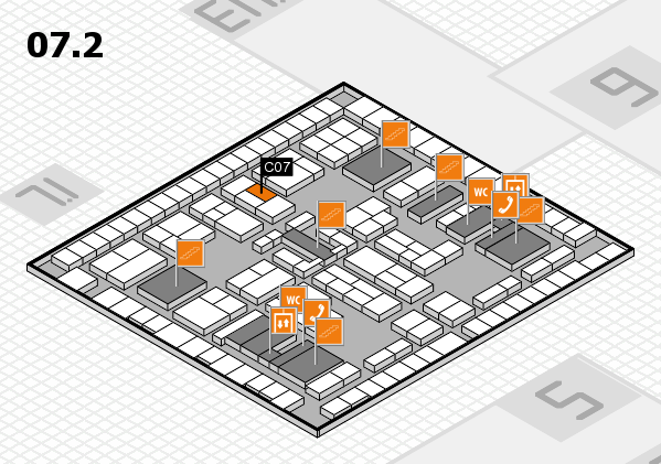 K 2016 hall map (Hall 7, level 2): stand C07