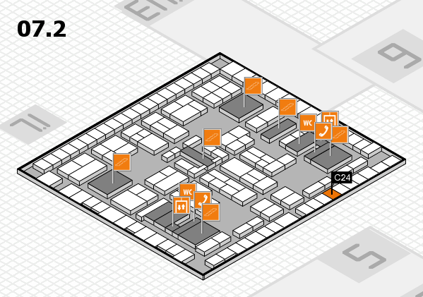 K 2016 hall map (Hall 7, level 2): stand C24