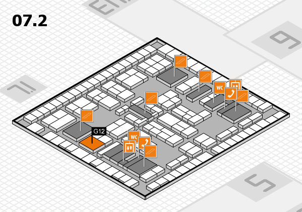 K 2016 hall map (Hall 7, level 2): stand G12