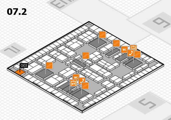 K 2016 hall map (Hall 7, level 2): stand G03