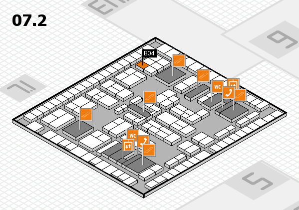 K 2016 hall map (Hall 7, level 2): stand B04