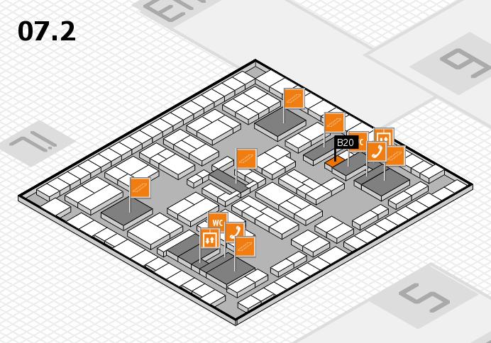 K 2016 hall map (Hall 7, level 2): stand B20