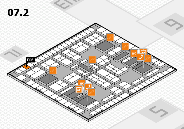 K 2016 hall map (Hall 7, level 2): stand F05