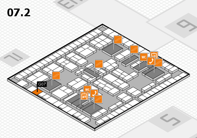 K 2016 hall map (Hall 7, level 2): stand G07