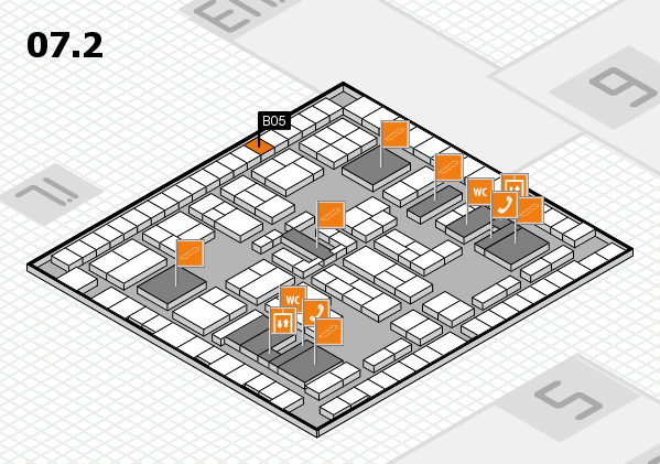 K 2016 hall map (Hall 7, level 2): stand B05