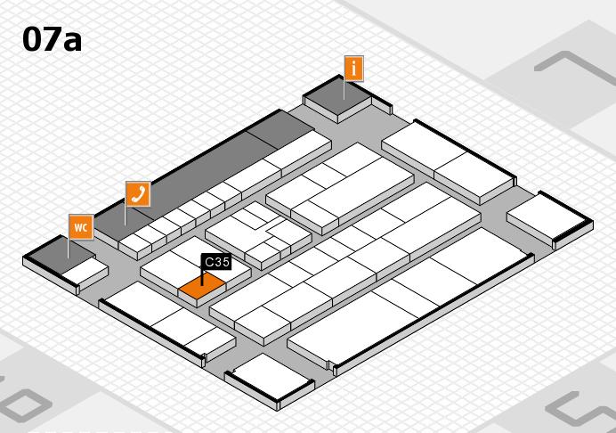 K 2016 hall map (Hall 7a): stand C35