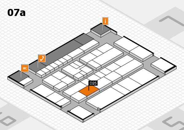 K 2016 hall map (Hall 7a): stand D25