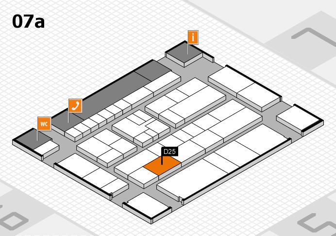 K 2016 hall map (Hall 7a): stand D25