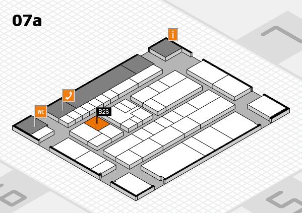K 2016 hall map (Hall 7a): stand B28