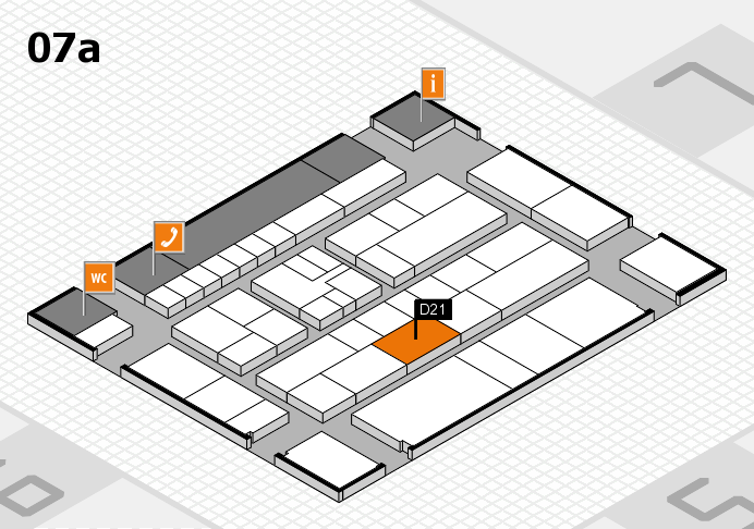 K 2016 hall map (Hall 7a): stand D21