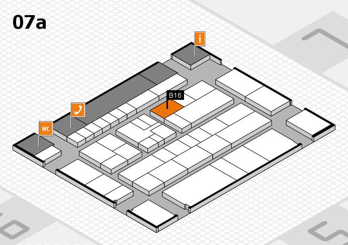 K 2016 hall map (Hall 7a): stand B16
