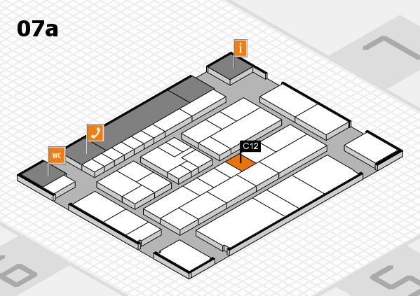 K 2016 hall map (Hall 7a): stand C12