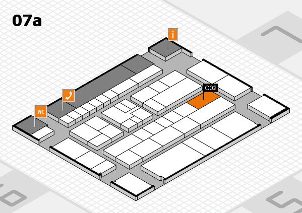K 2016 hall map (Hall 7a): stand C02