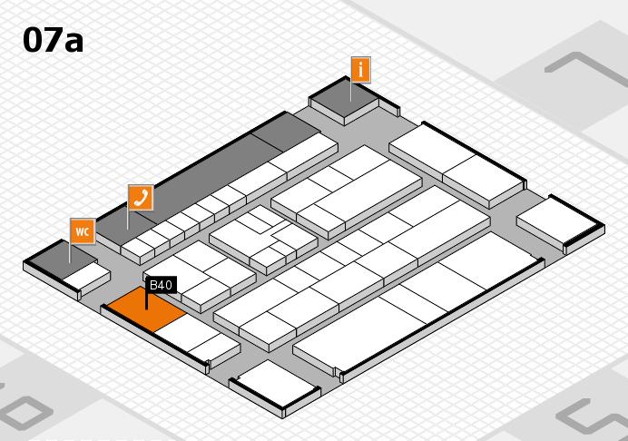 K 2016 hall map (Hall 7a): stand B40