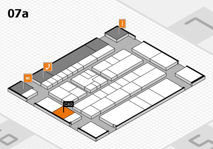 K 2016 hall map (Hall 7a): stand C40