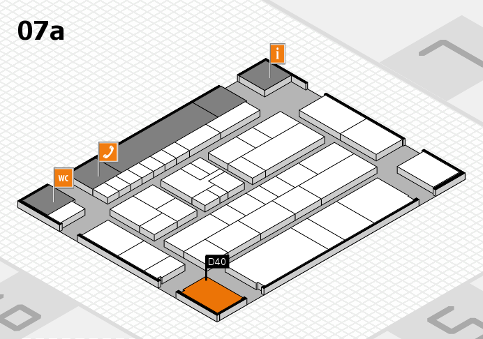 K 2016 hall map (Hall 7a): stand D40