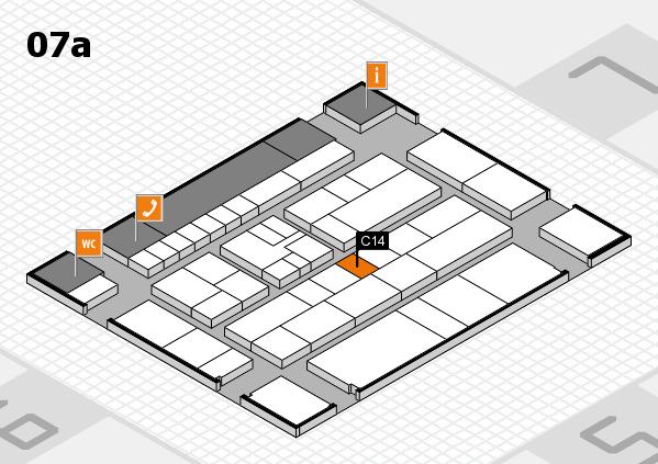 K 2016 hall map (Hall 7a): stand C14