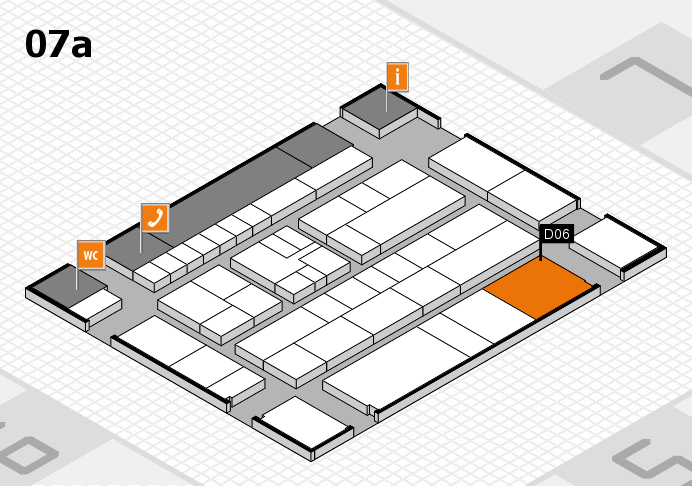 K 2016 hall map (Hall 7a): stand D06