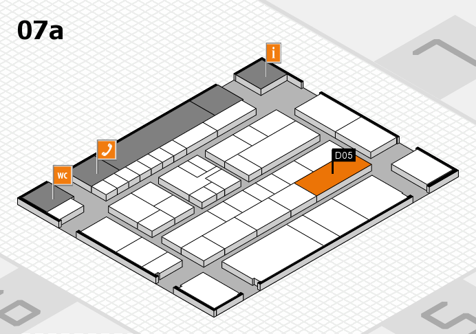 K 2016 hall map (Hall 7a): stand D05