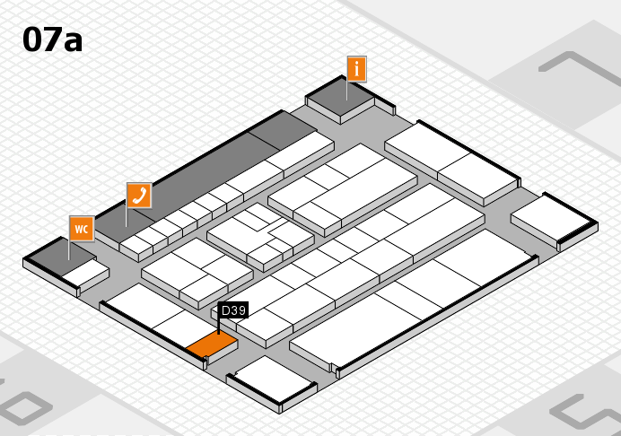 K 2016 hall map (Hall 7a): stand D39