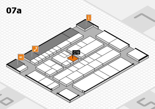 K 2016 hall map (Hall 7a): stand C19