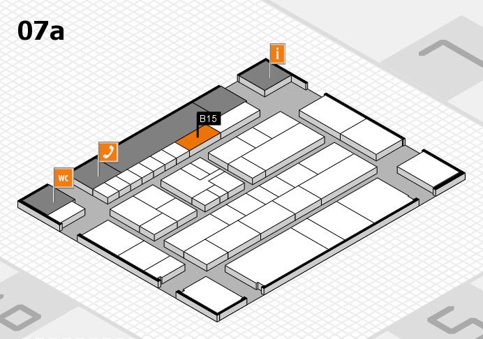 K 2016 hall map (Hall 7a): stand B15