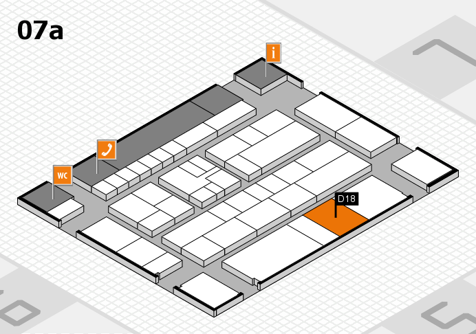 K 2016 hall map (Hall 7a): stand D18