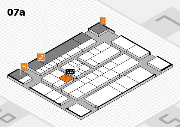 K 2016 hall map (Hall 7a): stand C27