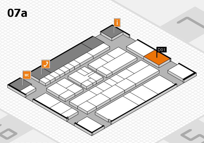 K 2016 hall map (Hall 7a): stand D01