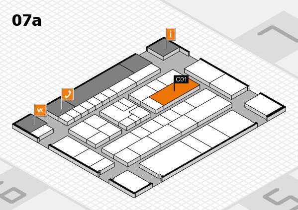 K 2016 hall map (Hall 7a): stand C01