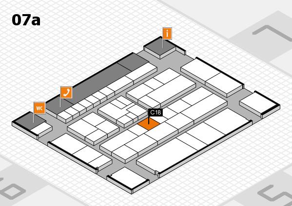 K 2016 hall map (Hall 7a): stand C18