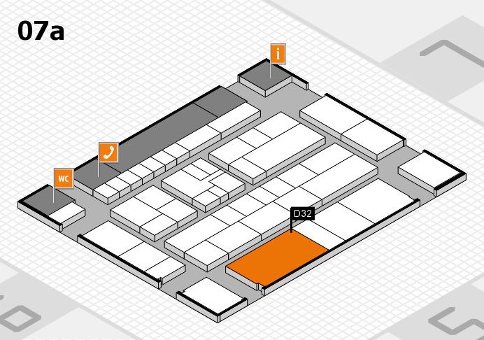 K 2016 hall map (Hall 7a): stand D32