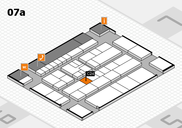 K 2016 hall map (Hall 7a): stand C24