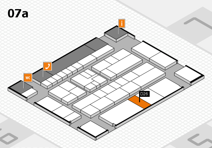 K 2016 hall map (Hall 7a): stand D26
