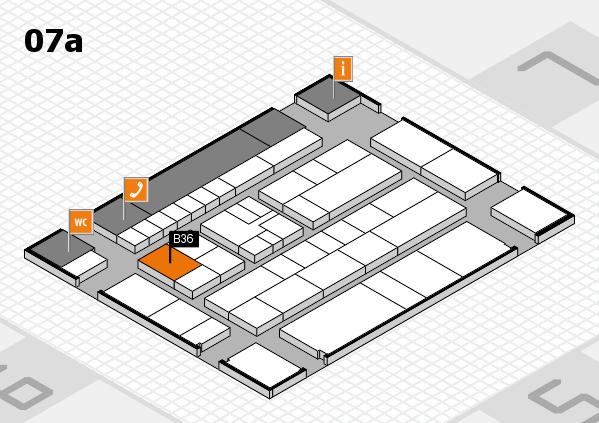 K 2016 hall map (Hall 7a): stand B36