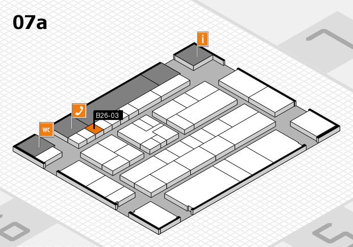 K 2016 hall map (Hall 7a): stand B26-03