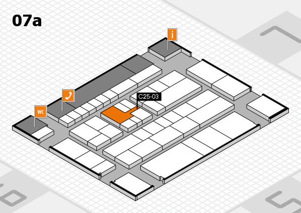 K 2016 hall map (Hall 7a): stand C25-03