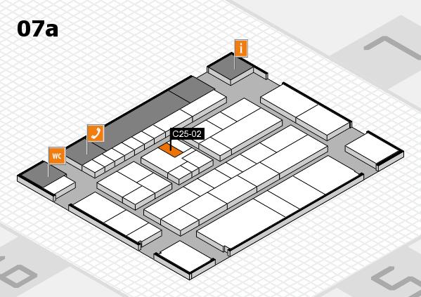 K 2016 hall map (Hall 7a): stand C25-02