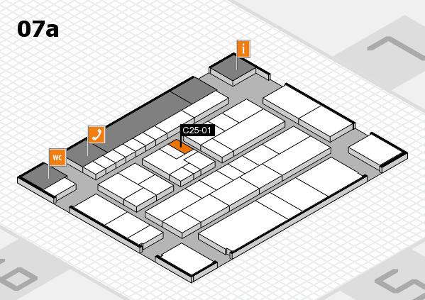K 2016 hall map (Hall 7a): stand C25-01