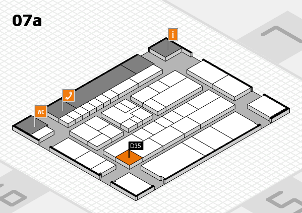 K 2016 hall map (Hall 7a): stand D35