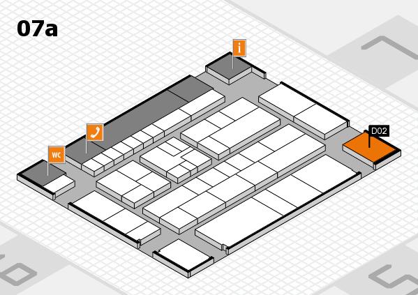 K 2016 hall map (Hall 7a): stand D02