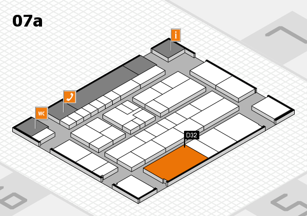 K 2016 hall map (Hall 7a): stand D32