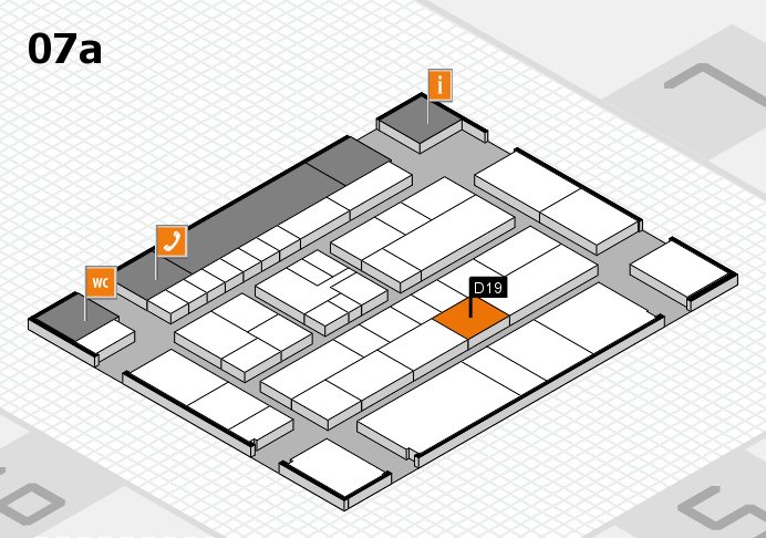 K 2016 hall map (Hall 7a): stand D19