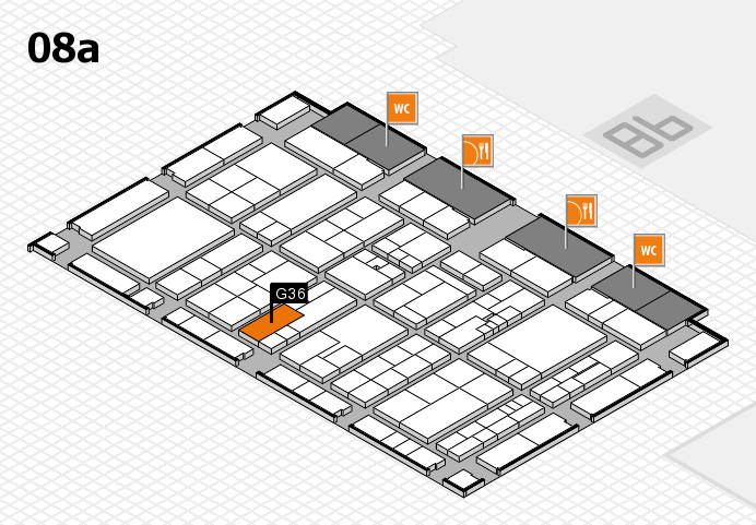 K 2016 hall map (Hall 8a): stand G36