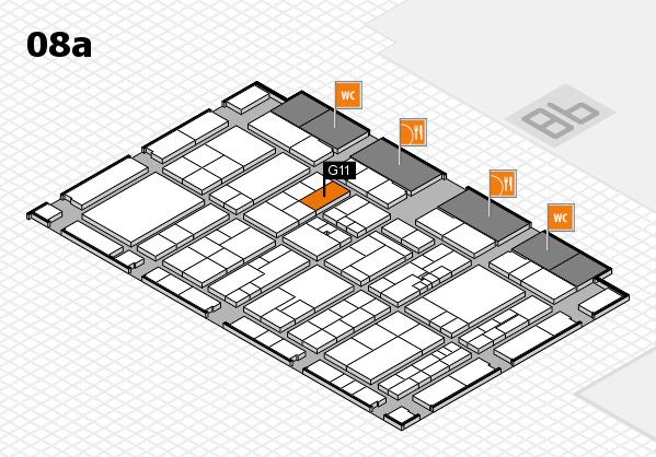 K 2016 hall map (Hall 8a): stand G11