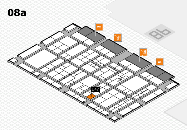 K 2016 hall map (Hall 8a): stand D47